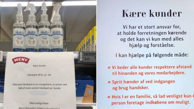 Danish supermarket comes up with a brilliant pricing loophole to stop hand sanitiser hoarding
