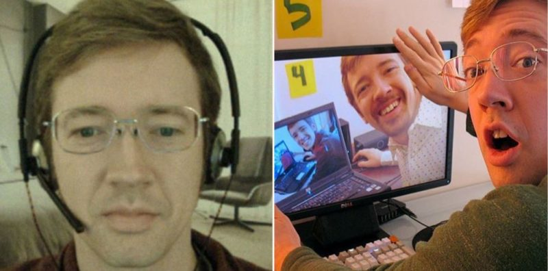 Bloke working from home fools his coworkers into thinking he lives in a luxury apartment!