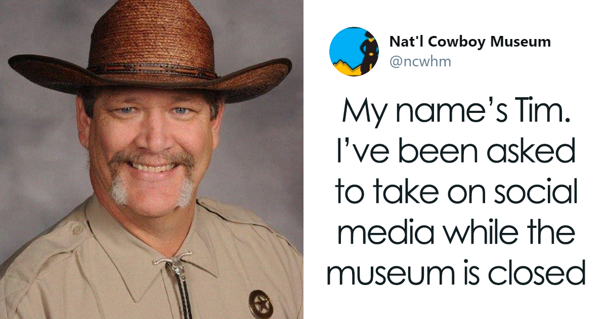 Meet Tim, the Cowboy Museum's wholesome security guard – and Twitter manager!