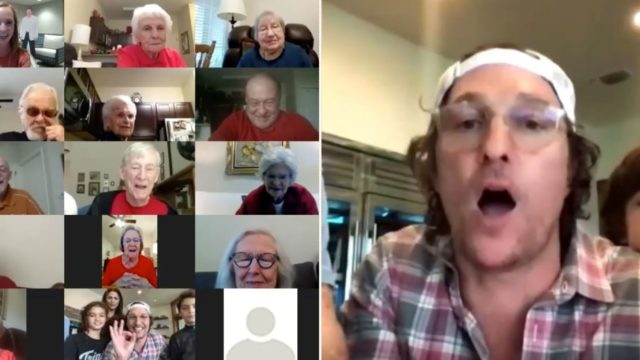 Matthew McConaughey hosted a bingo session on Zoom for seniors in isolation