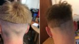 These self-isolators attempted to cut their own hair – results are bloody gold