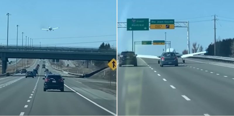 Cheeky pilot makes emergency landing on highway – in traffic