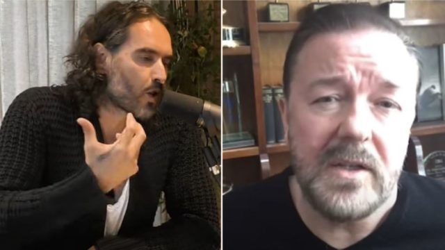 Russell Brand & Ricky Gervais debate Atheism on newly released podcast