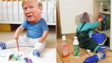There's a Sub-Reddit dedicated to photoshopping Trump into a baby