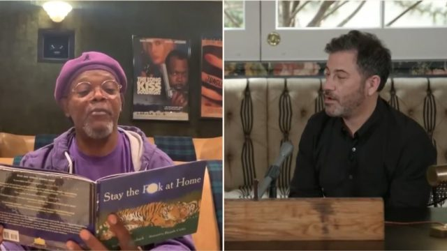 Watch Samuel Jackson read the social distancing kids book Stay the F**k at Home!