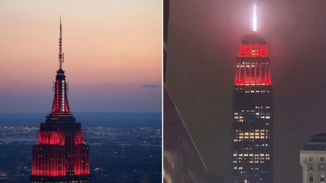 Empire State Building was lit up like a f*@#en ambulance to signal state of emergency