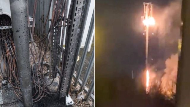 Coronavirus conspiracy theorists are burning down 5G towers in Pommyland