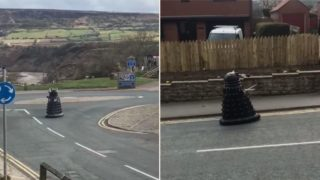 Dalek spotted cruising around UK streets ordering humans to self-isolate