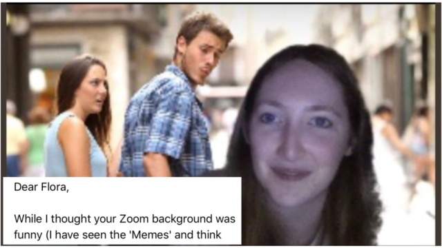 This journo's 'scolding' from boss went viral after using meme background in zoom call