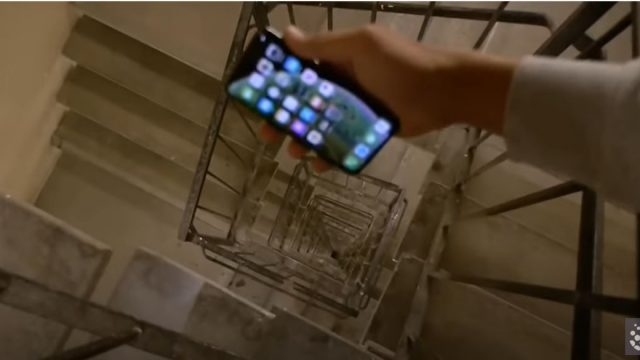 Bloke drops iPhone with case down 100m staircase to see what happens