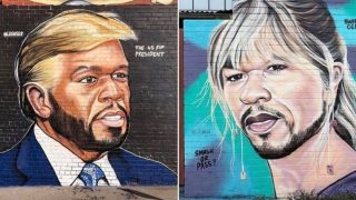 Aussie artist has been painting 50 Cent murals and they're bloody brilliant