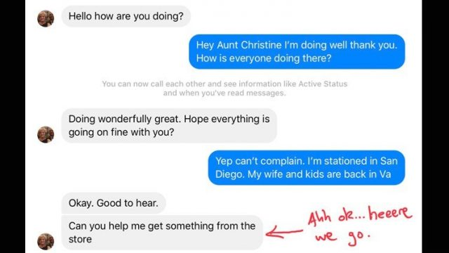 Bloke's 'Aunt' tried to scam him on messenger, then this bloody epic troll took place