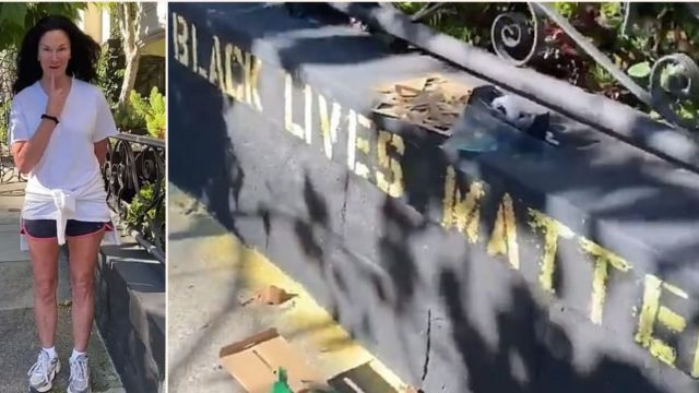"""Karen"" calls cops on bloke for writing ""Black Lives Matter"" on his house"