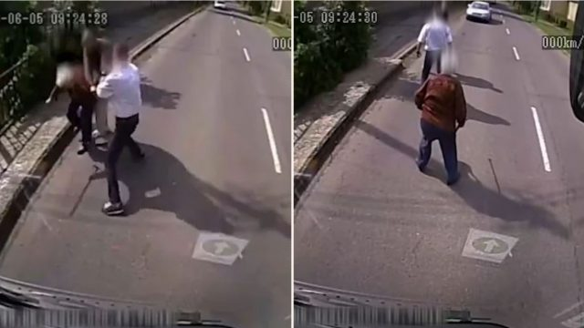 Bloody legend bus-driver pulls over to save elderly sheila from mugger