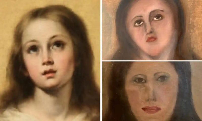 This art restoration bodge-job is so bad the internet has been 'fixing' it