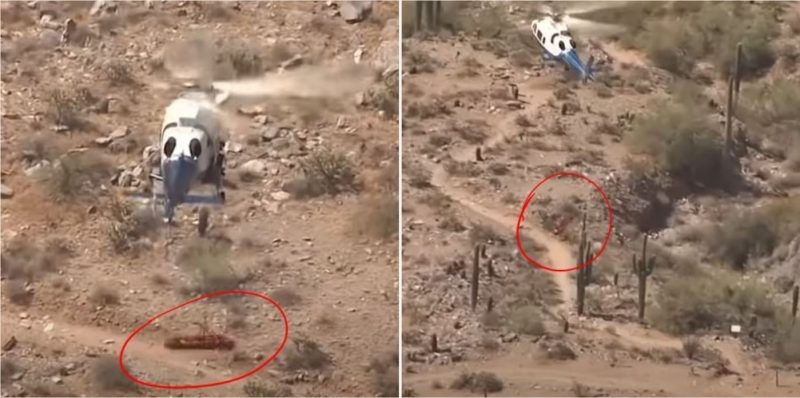 Woman who spun 174 times in stretcher under helicopter is suing her rescuers