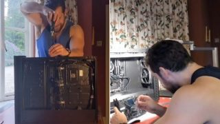 Superman's Henry Cavill makes the internet weak at the knees while building a computer