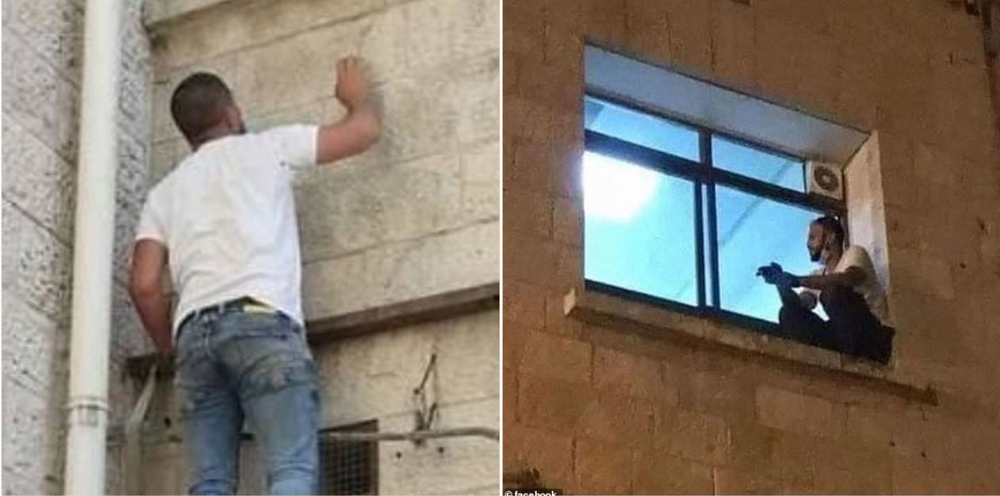 Devoted son climbs hospital drainpipe to sit by dying mother with Covid