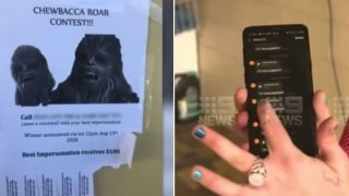 Dumped bloke gets revenge on ex with bloody gold Chewbacca prank