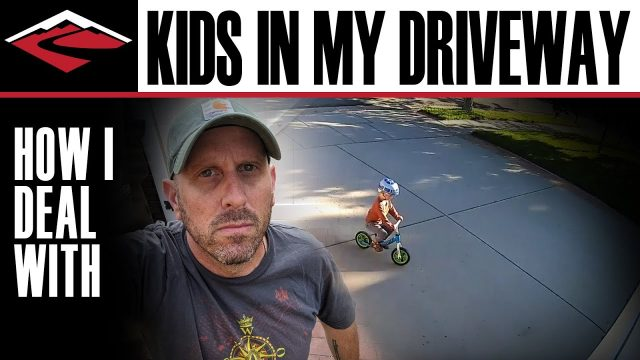 This bloke's method for dealing with kids on his driveway is pretty f**ken out there!