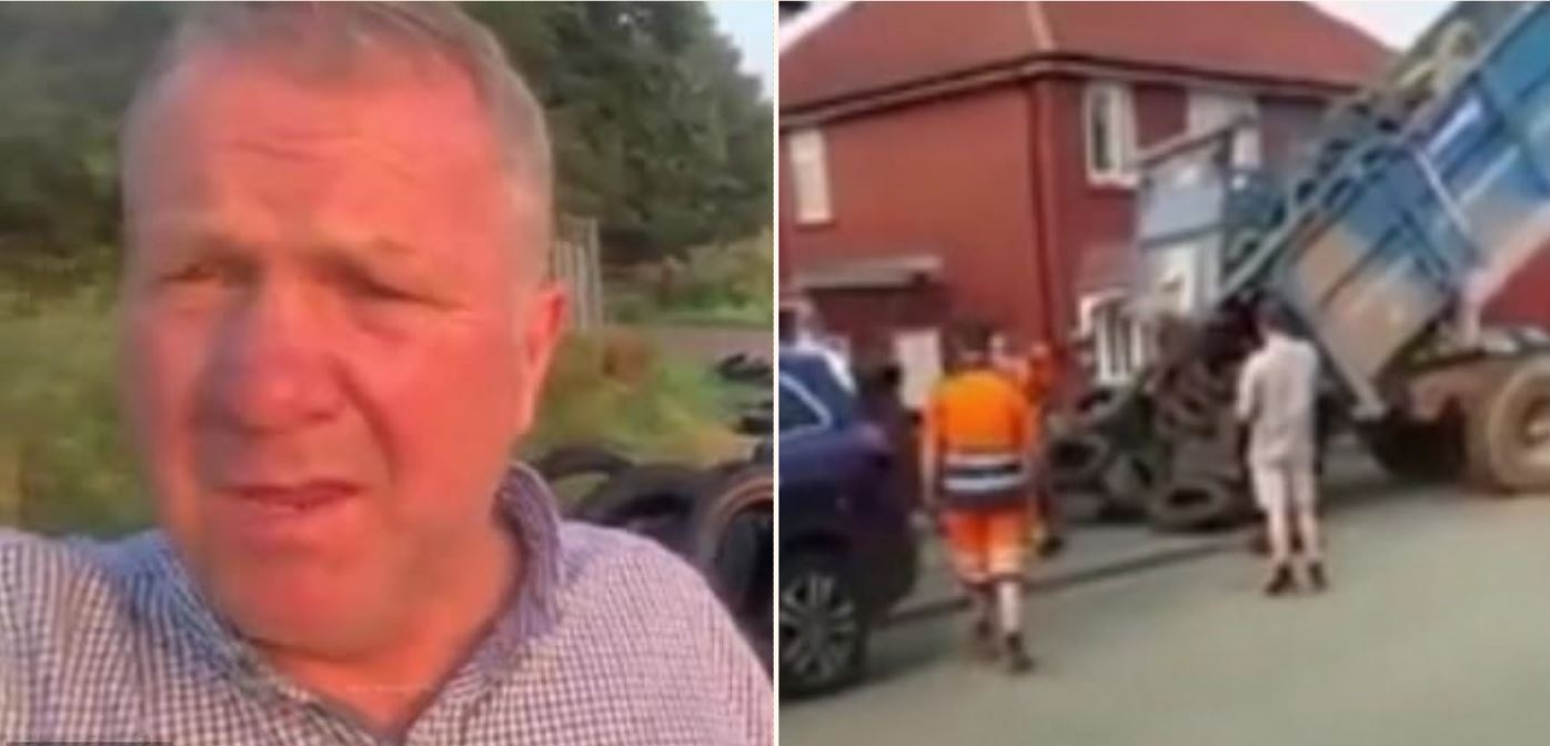 Watch how farmer gets revenge on fly-tipper who dumped tyres on his farm