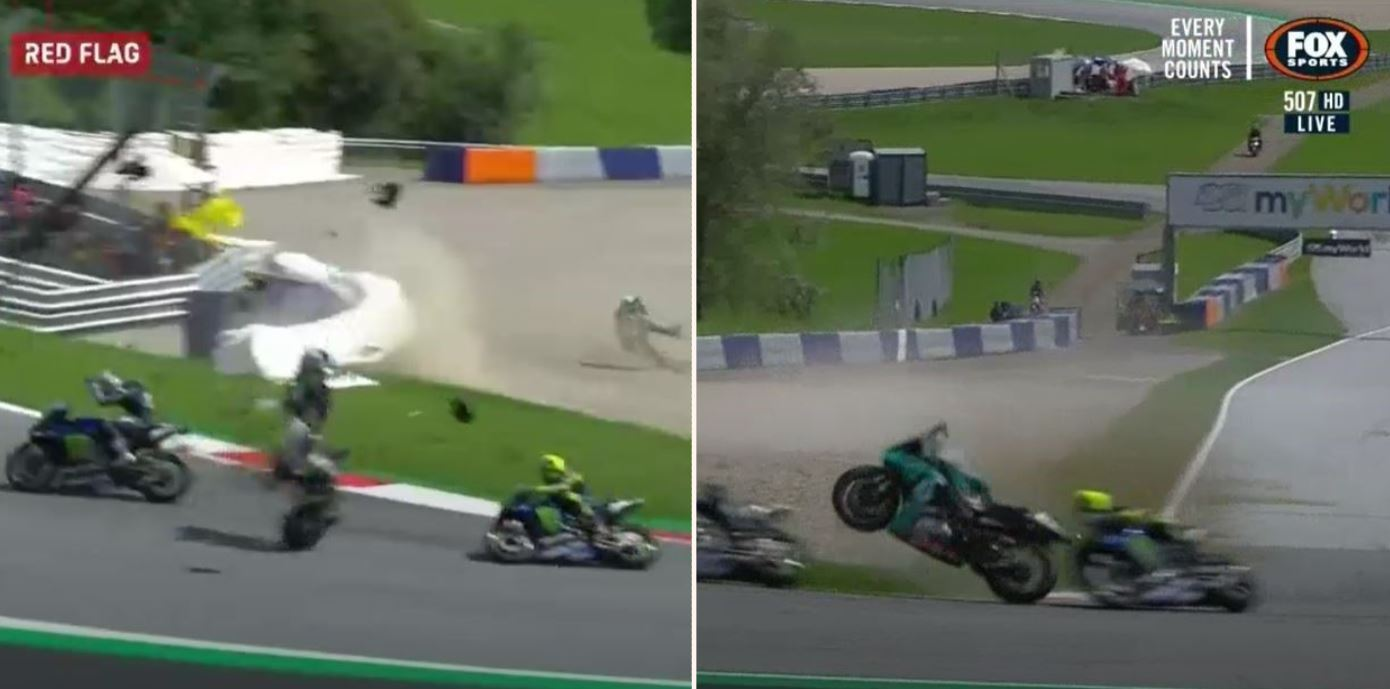 Valentino Rossi has a message for young riders after 'terrifying' crashes at Austrian GP