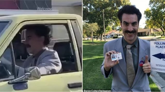 Potential evidence of a new Borat being filmed on streets of LA has emerged