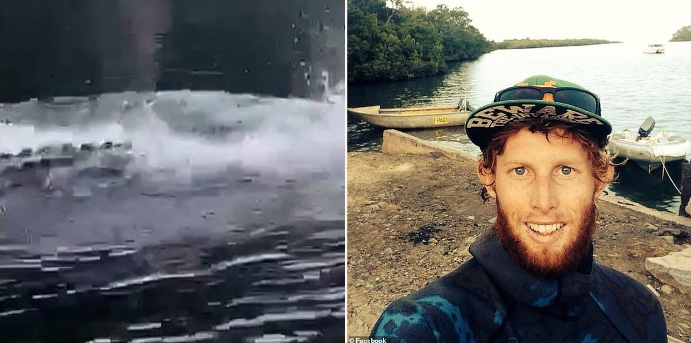 Watch 4.5 metre 'pi**ed off' croc scare fisherman by 'porpoising'