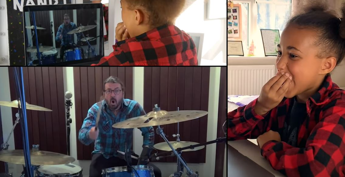 Dave Grohl's epic drum battle with 11-year-old Nandi is the most heartwarming s**t online!