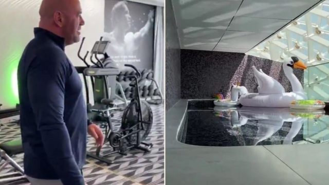 Dana White flexes his ballin' hotel room on UFC's Fight Island in Abu Dhabi