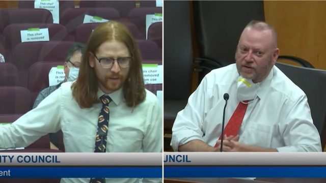 Blokes powerful speech about renaming 'boneless chicken wings' at council meeting
