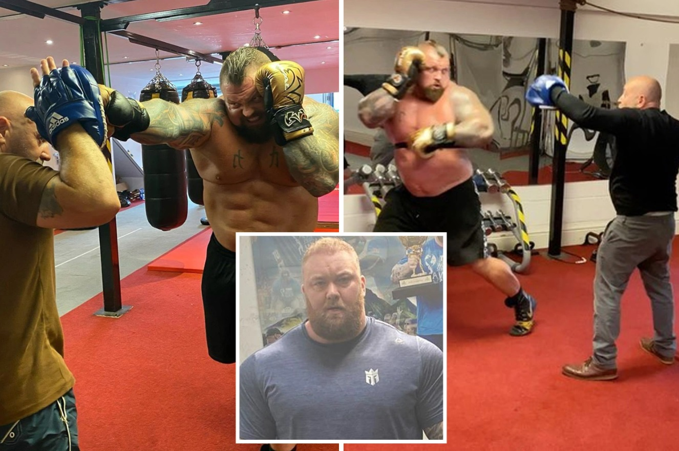 Strongman Eddie Hall goes BEAST MODE in sparring session ahead of battle with The Mountain