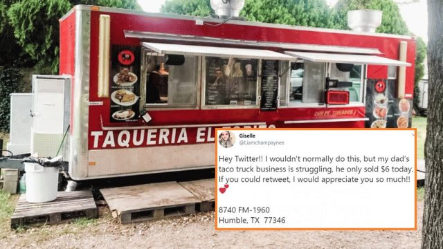 Internet responds after daughter Tweets about Dad's struggling Taco business