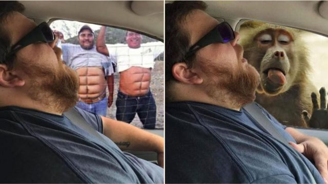 Wife has internet troll her sleeping husband with some cheeky Photoshop editing