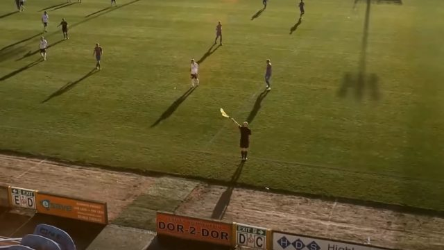 AI cameras mistake bald linesman's head for ball during televised soccer game