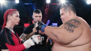 60kg female MMA fighter finishes 240kg YouTuber in Russia