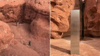 Experts puzzled over Massive Metal Monolith found in Remote Utah