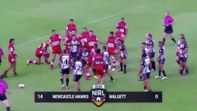 This bloody epic 'all in brawl' broke out in Rugby League final