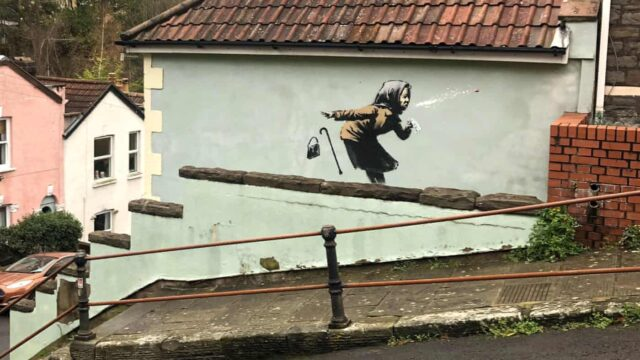 Banksy artwork appears on wall of house that's up for sale – chaos ensues!