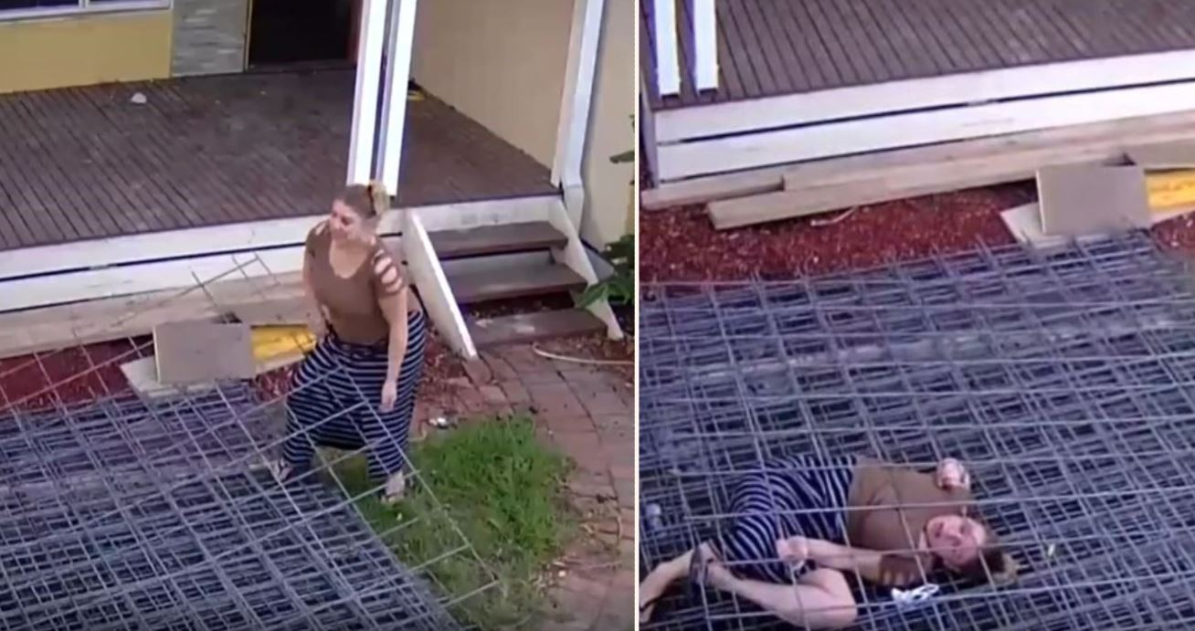 Ozzy Sheila's attempt at stealing construction site materials ends in tears