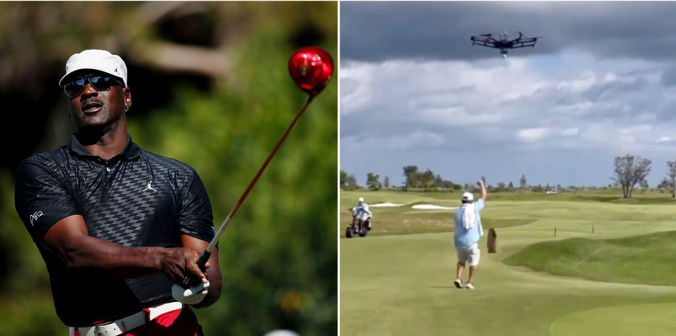 Michael Jordan's new golf course uses drones to deliver the beers!