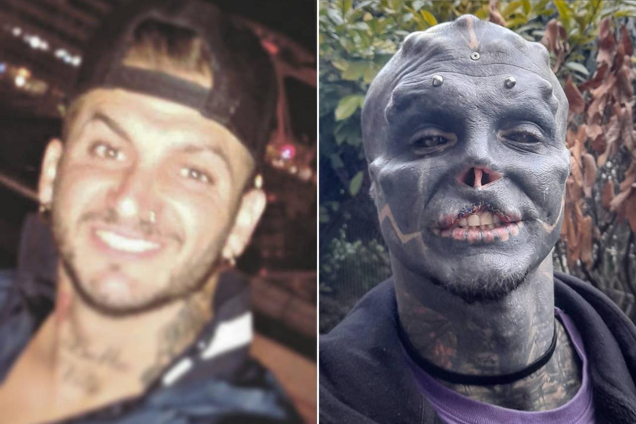 French bloke transforms himself into 'black alien'