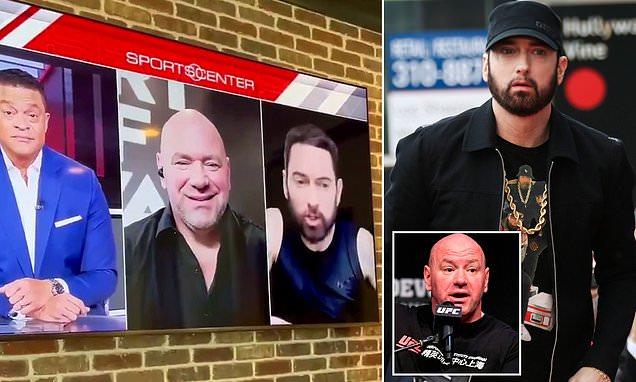 "Eminem fires swipe at UFC Supremo Dana White on ""SportsCenter"""