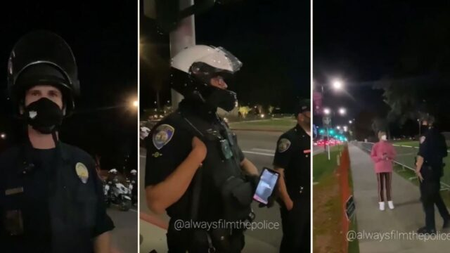 "Footage shows Police playing ""Beatles"" to trigger Instagram copyright filter"