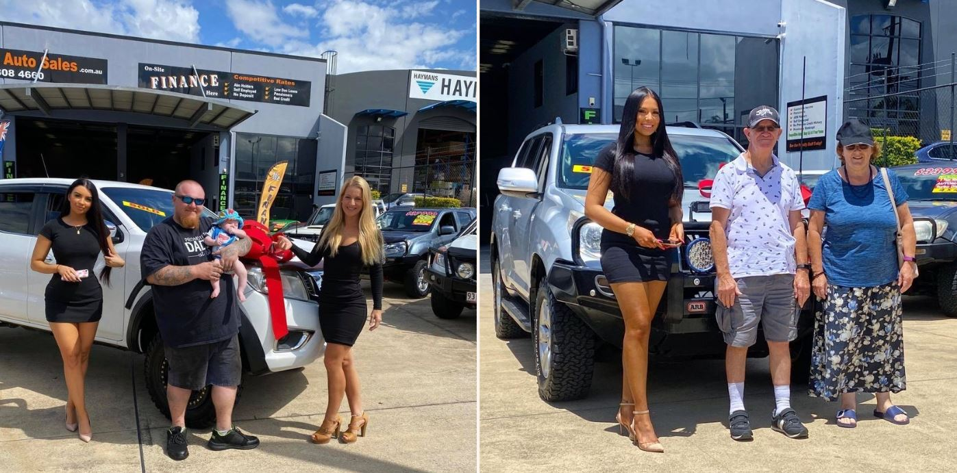 Sheila's at local Aussie car-yard have attracted International coverage online