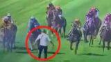F@*#en lunatic runs onto racecourse during event