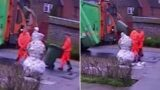 Bin-man sacked for kicking snowman petition gets thousands of signatures