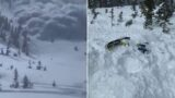 The moment the Utah Avalanche struck – caught on film!