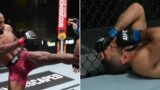 UFC Fighter inconsolable after nasty fight ending eye-poke