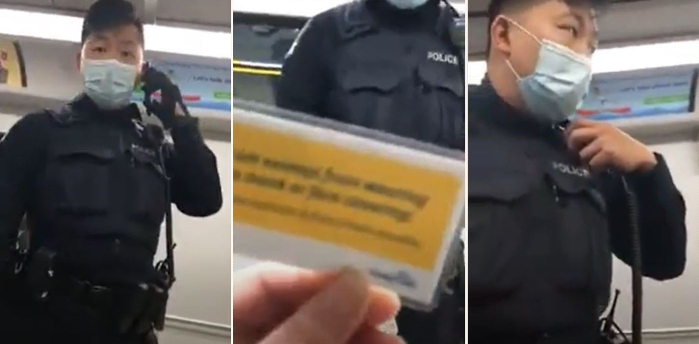 Internet praises police officer's incredibly calm handling of 'Karen' anti-masker